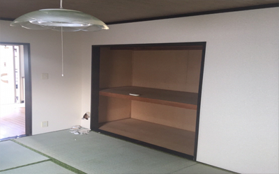 施工事例|和室から洋室に変更工事2